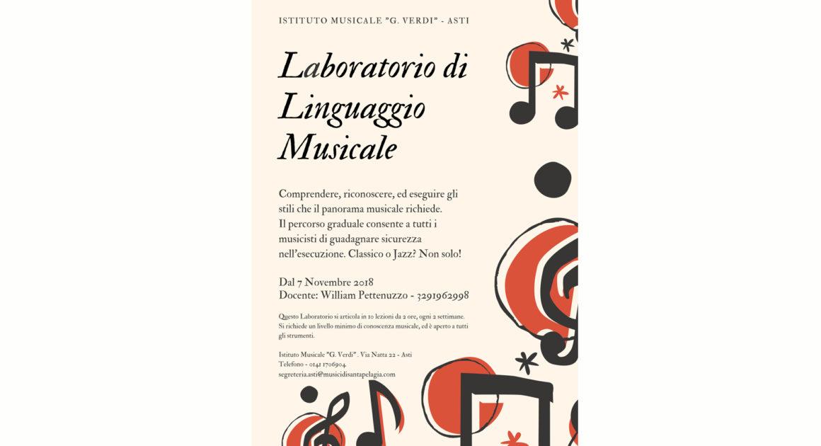 LABORATORIO DI LINGUAGGIO MUSICALE